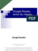 Google Reader. Gestor de información.