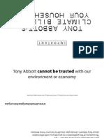 Tony Abbott's climate bill for your household - Black & White