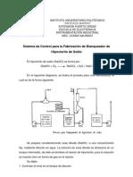 Sistema de Control para la Fabricación de Blanqueador de Hipoclorito de Sodio