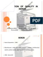 Evolution of Quality in Xerox
