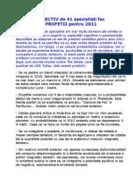 Colectiv de 41 Specialisti_PROFETII Pt 2011