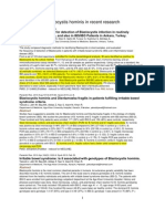Blastocystis Hominis Recent Research