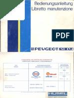 1986 Peugeot 309 Owner's Manual (Switzerland) it/de-ch