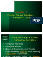 Foreign Market Selection- Ch 6