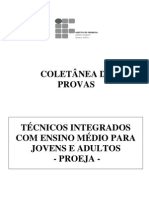 Coletânea de Provas de Técnico Integrado Proeja (2008-2010) - ES