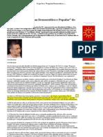 """O que foi o """"Programa Democrático e Popular"""" do PT_ - João Machado — Enlace"""