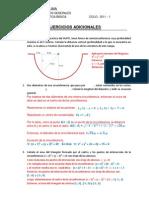 ejercicios adicionales de circunferencia, parábola y elipse.