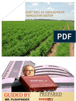 Agriculture Sector Budget