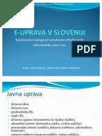 E-Uprava v Sloveniji (prezentacija)