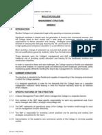 (1)Moulton College Management Structure