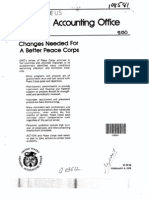 Changes Needed for a Better Peace Corps - General Accountng Office (1979)