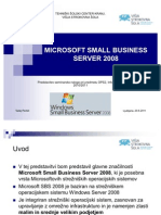 Microsoft Small Business Server 2008 (prezentacija)