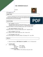 Mehedi Hasan's CV