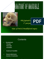 Surgical Anatomy of Mandible Dept