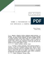 Sobre a necessidade da ligação das mônadas a corpos em Leibniz