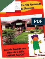 Folleto CASA DE ACOGIDA PARA NIÑOS DE LA CALLE_MANO AMIGA