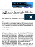 An ANN Architecture for Deleterious nsSNPs in Tumor Suppressor Genes