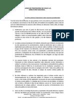 Declaración Colegio de Profesores