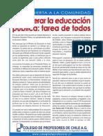 INSERCIÓN CARTA ABIERTA A LA COMUNIDAD, COLEGIO DE PROFESORES