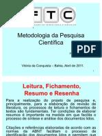 Aula 04 - Leitura + Fichamento + Resumo + Resenha
