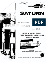 Saturn v Launch Vehicle Flight Evaluation Report - As-502 Apollo 6 Mission