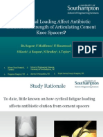 Antibiotic Elution From Dynamic Cement Knee Spacers