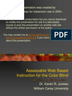 Assessable Web Based Instruction for the Color Blind