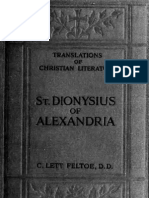 Dionysius - St. Dionysius of Alexandria-Letters and Treatises