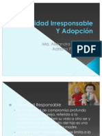 ad Irresponsable y Adopcion