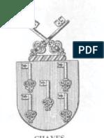 Brasão da família CHAVES em preto e branco