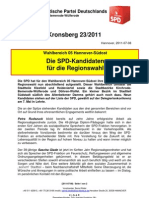 Blick vom Kronsberg 23/2011 Regionskandidaten
