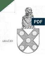 Brasão da familia  ARAÚJO  em preto e branco