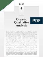 Qualitative Analysis of Organic Compounds