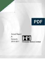 Hindustan Motors Ltd. - Annual Report 2011