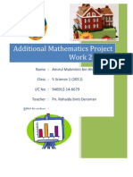 Additional Mathematics Project Work 2 2011