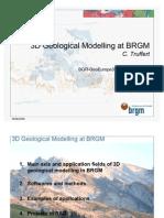 3D Geological Modelling at BRGM