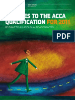 Change Acca Qualification 2011
