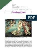 6. El Renacimiento Europeo. 2011. Gutiérrez