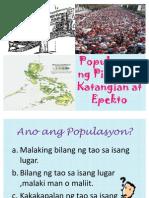 Ang Populasyon Ng Pilipinas
