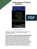 La voluntad de poder por Friedrich Nietzsche - 5 estrellas reseña del libro