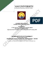 M. Pharm Syllabus & Regulations Revised