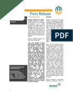 Press Release PT Antam Tbk Profit