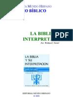 La Biblia Y Su Interpretacion