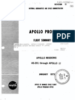 Apollo Program Flight Summary Report Apollo Missions AS-201 Through Apollo 17