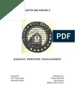 Railway Employment Management System
