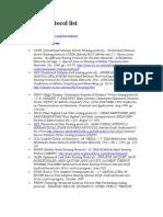 Ad Hoc Protocol List