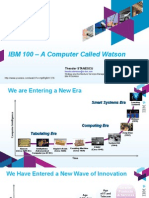 IBM 100 a Computer Called Watson