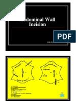 Abdominal Wall Incision