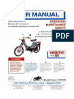 Kinetic Moped User Manual
