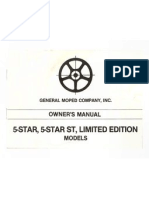 General 5 Star Moped Owners Manual
